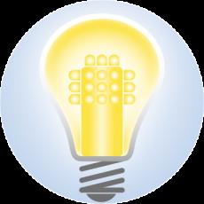 Lampadina LED accesa